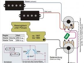 Schaltplan-Sammlung für passive E-Bässe | Blog | Electricbass.ch