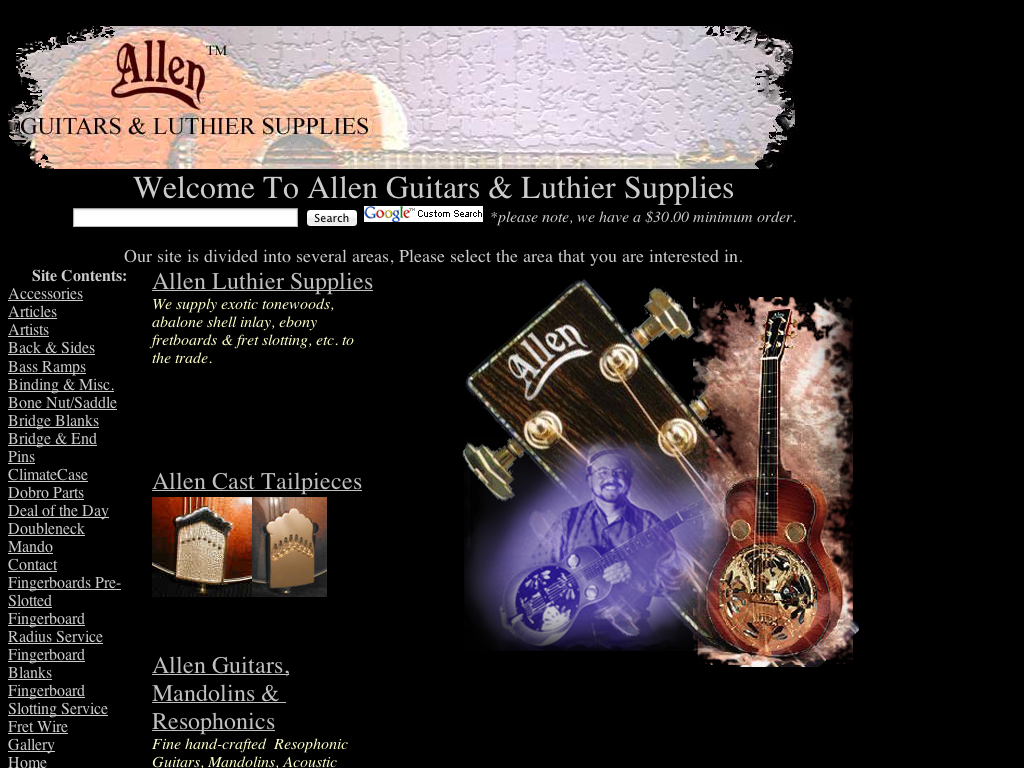 Allen Guitars & Luthier Supplies
