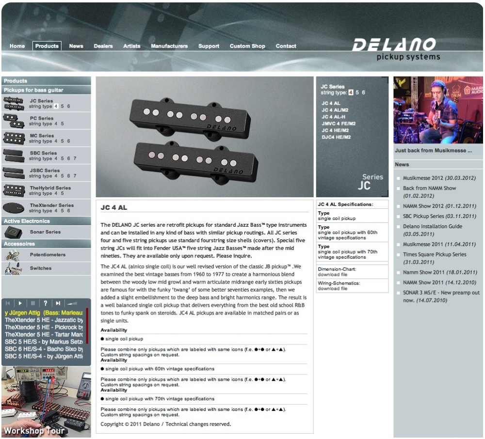 DELANO pickup systems