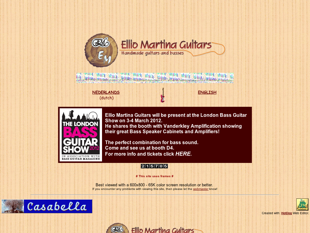 Ellio Martina Guitars