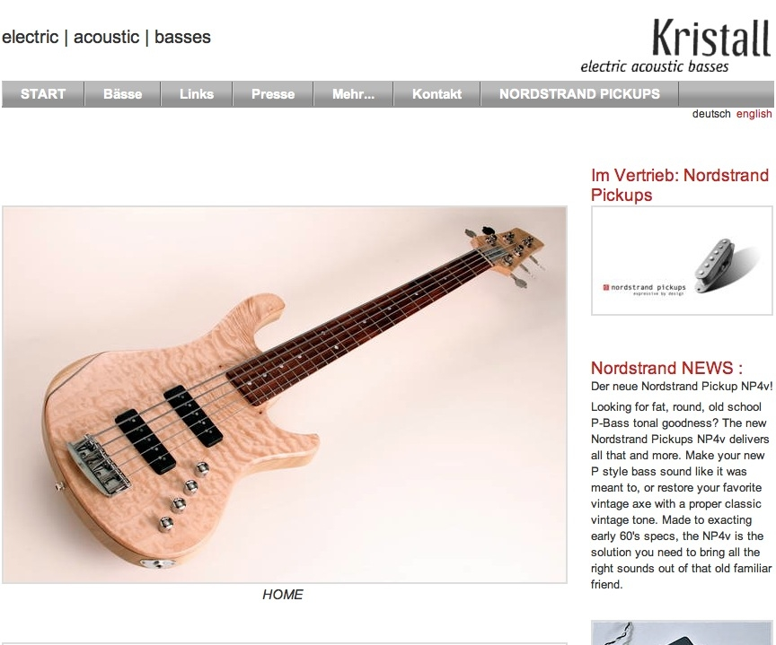 KRISTALL electric | acoustic | basses