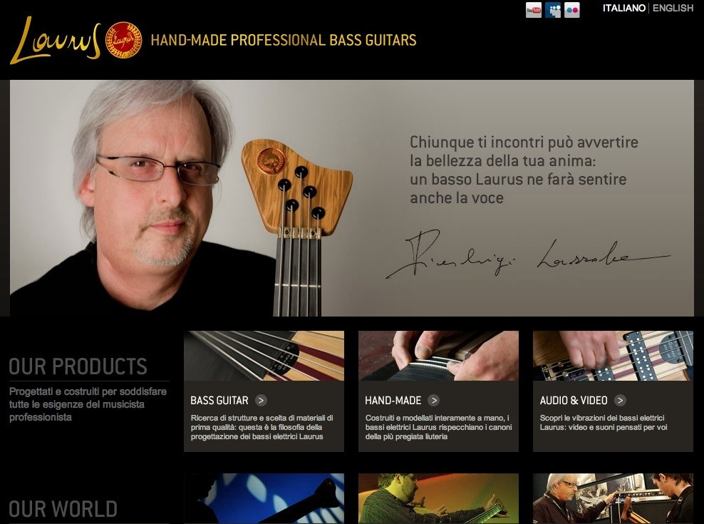 Laurus - Handmade Professional Bass Guitars