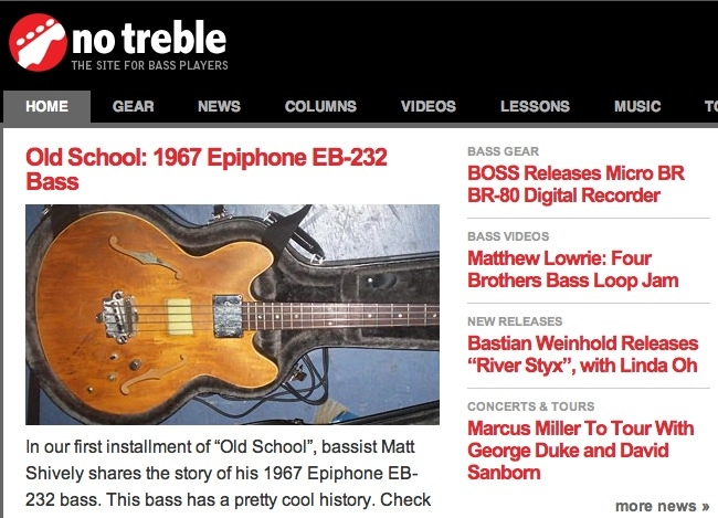 no treble | The Site For Bass Players