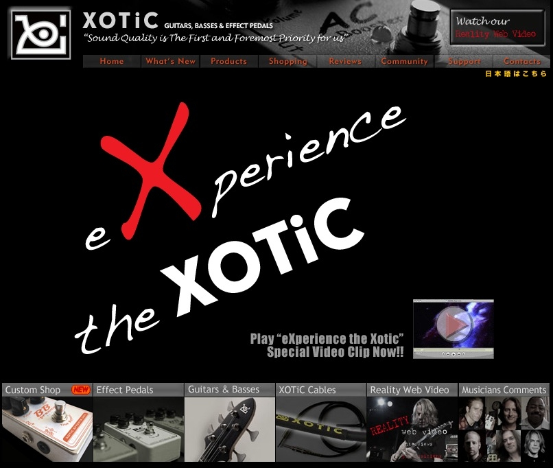 Xotic Guitars, Basses & Effect Pedals